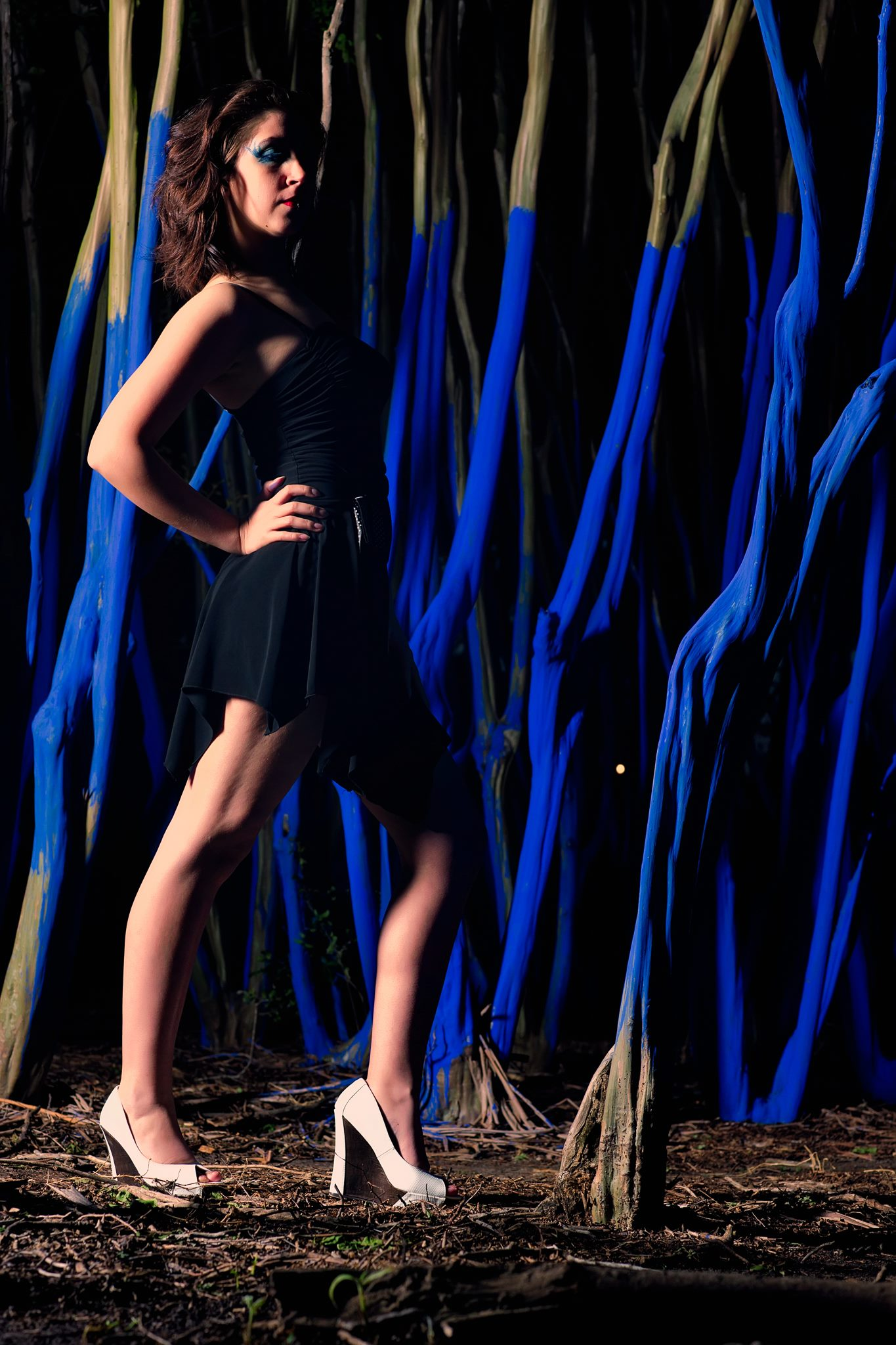 Reema Yeager Modeling Blue Trees