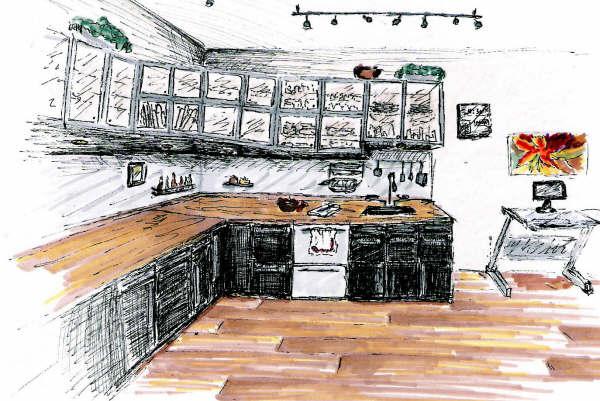 Residential Kitchen Rendering