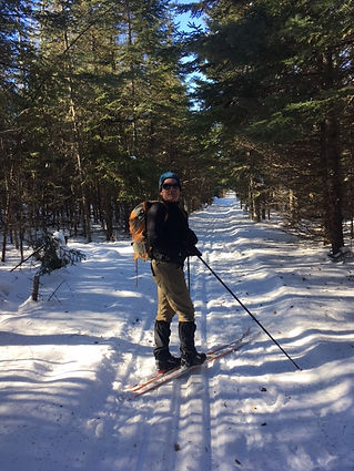 Skier on Banadad Ski Trail