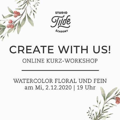 CREATE WITH US! Christmas Watercolor