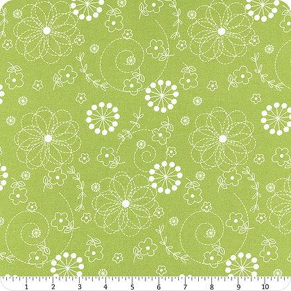 Green Floral Doodles Kimberbell Basics