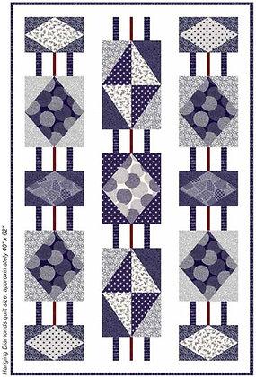 Flair Hanging Diamonds Quilt Pattern by Cyndi Hershey