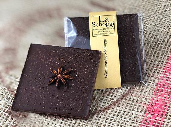 Winterzauber – handgemachte Edelschokolade mit winterlicher Gewürzmischung