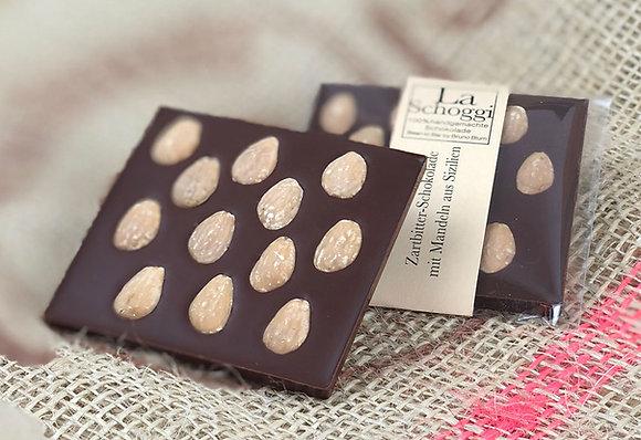 Mandorle – handgemachte Edelschokolade mit weissen Mandeln aus Sizilien