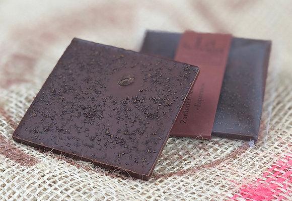 Espresso – handgemachte Edelschokolade mit handgemörserten Kaffeebohnen