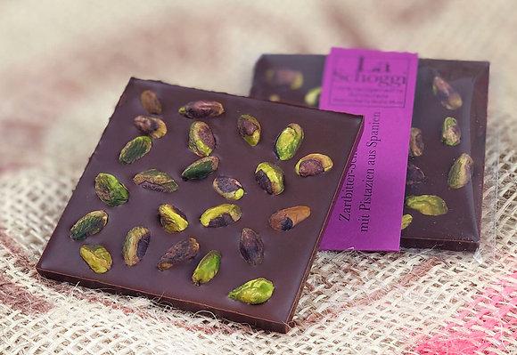 Pistacchi – handgemachte Edelschokolade mit grossen Pistazien aus Spanien