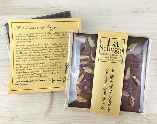 Handgemachte Edelschokolade «Pistazien Gold Edition»
