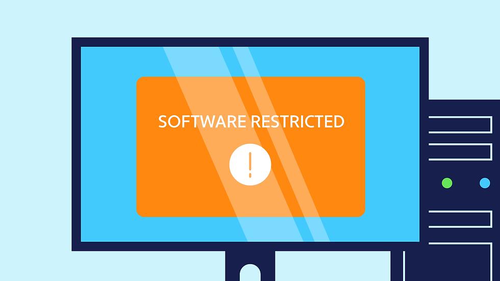 Dental practice software restriction