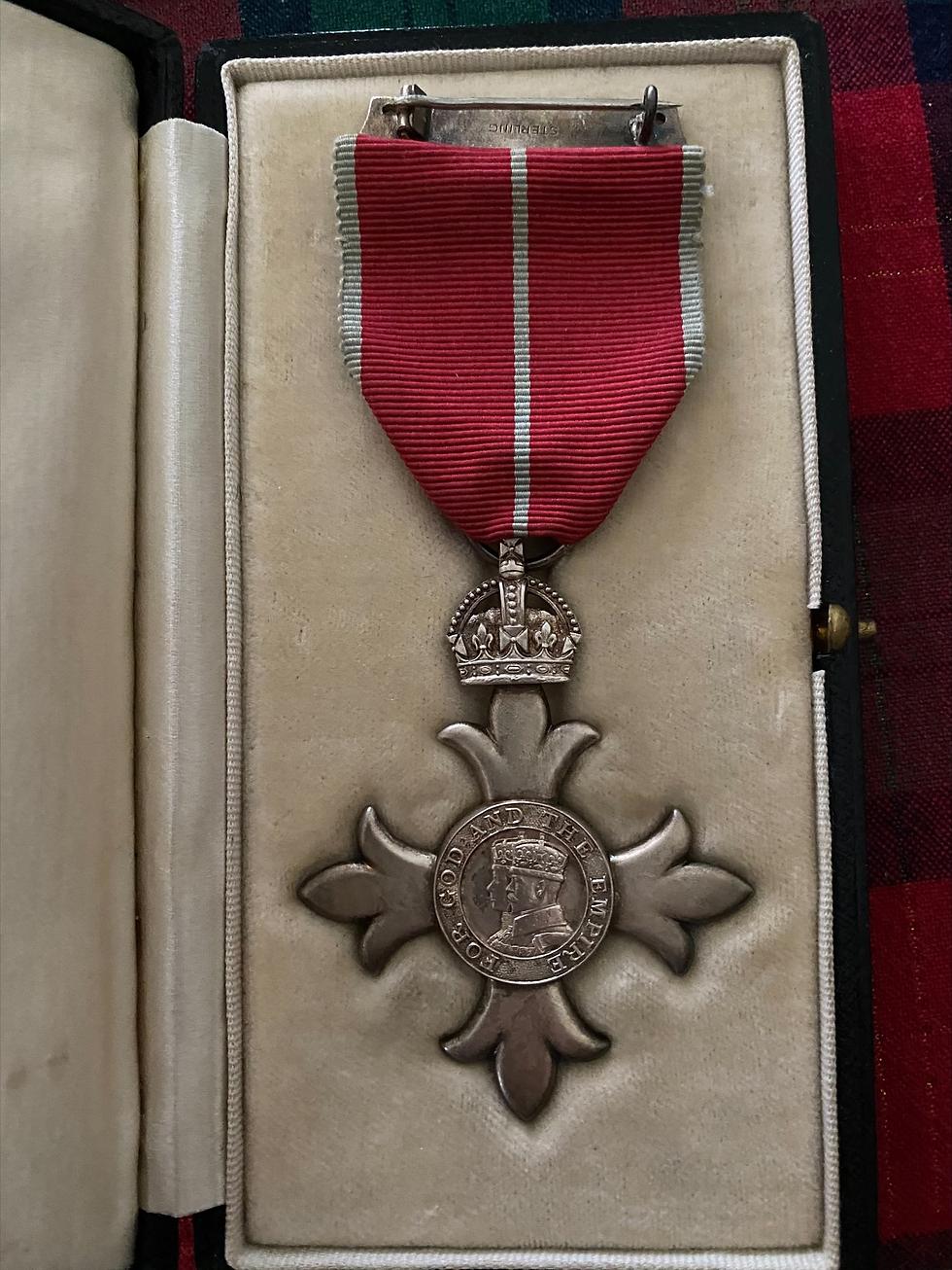 Tenacity MBE medal