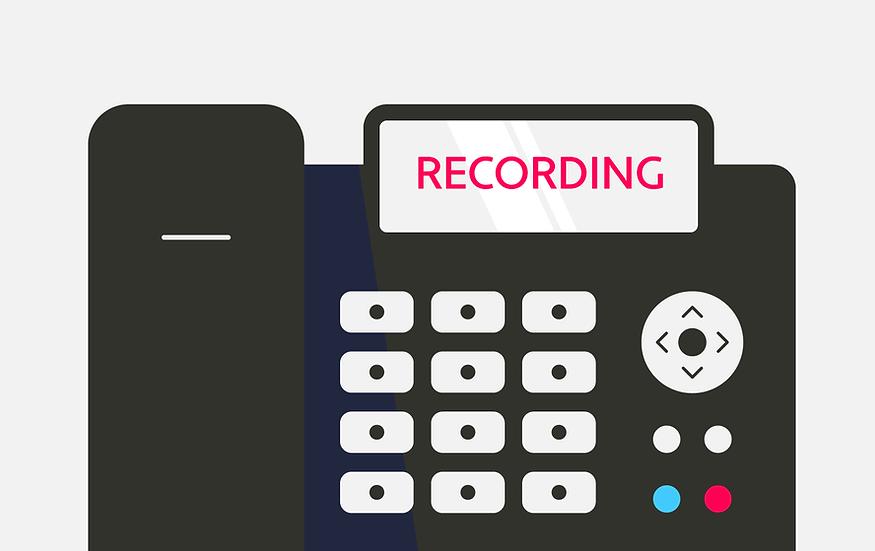 Dental phone recording