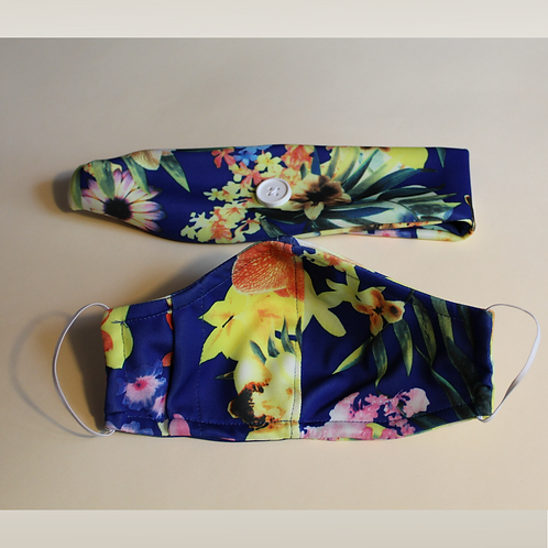 Flower headband and mask set