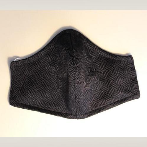 Black cloth face mask 2