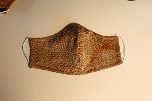 Cloth mask with animal print
