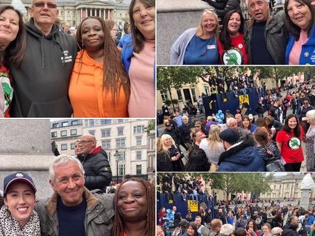 Massive Protest - Trafalgar Sq, London - Save Our Children 29/8/2020
