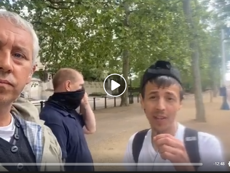Live - Lockdown Lies, Kevin Green and amplified protesters in Parliament Square - 2nd May 2020