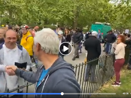 Live - Demonstration and Protest Hyde Park - Protesting against Child Abuse and Anti-lockdown 16th M
