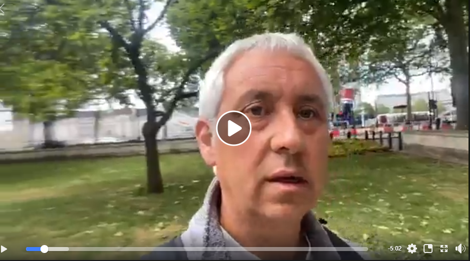 Live London Protest 23rd May 2020