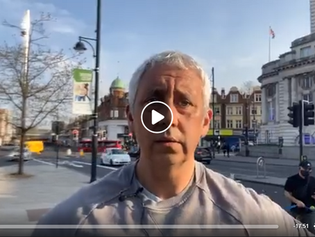 Live Jon Wedger Update from Brixton - April 2020