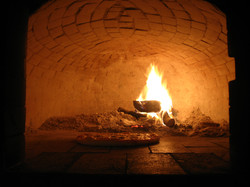 Wood-fired oven for our pizzas!