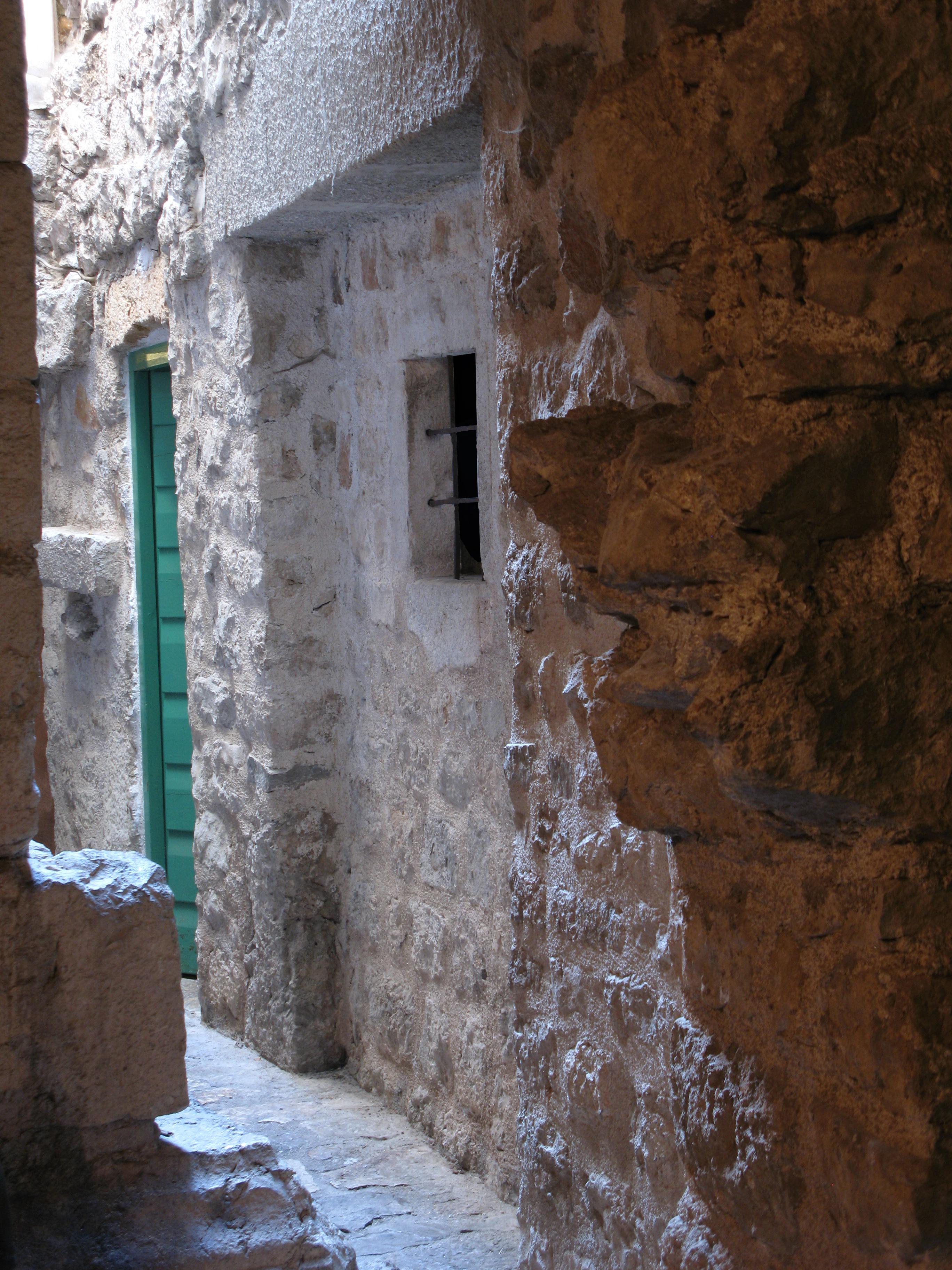 An underground corridor