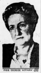 Portrait of suffragist Katherine Parker Howard Notman (1859-1946) from a newspaper in 1915.