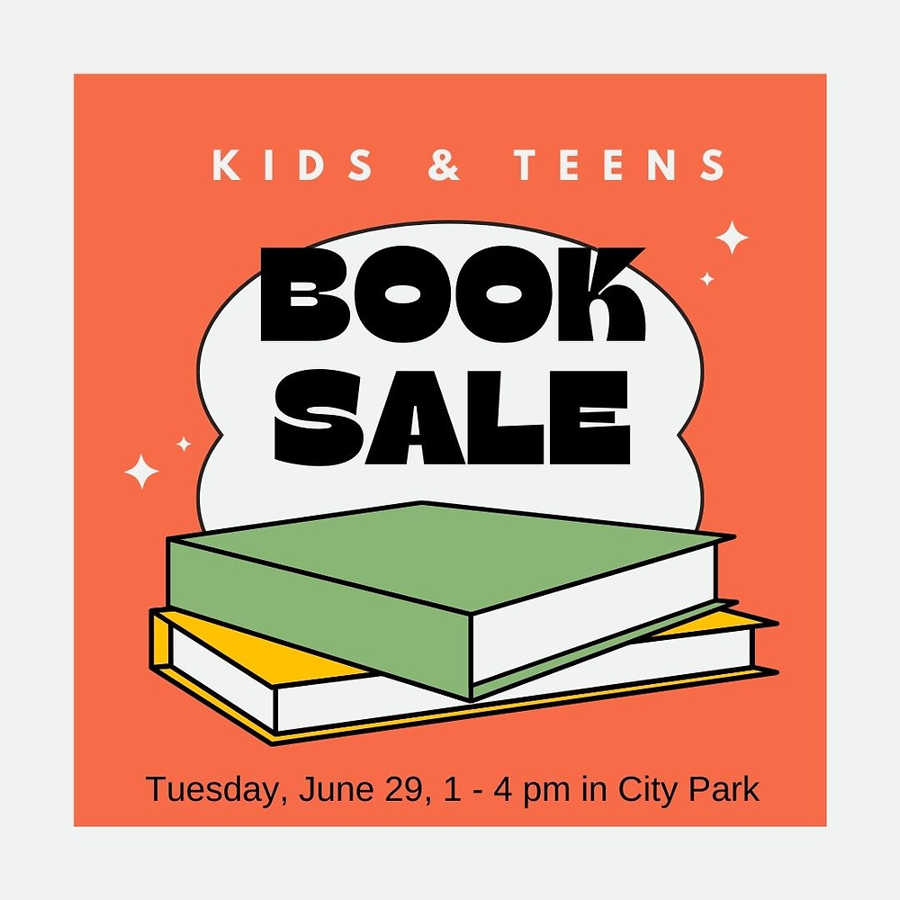 Kids & Teens Book Sale, Tuesday, June 29, 2021 from 1-4 PM in City Park, Glens Falls, NY. Sponsored by the Friends of Crandall Public Library.