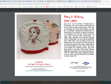 Suffrage Centennial Celebrated in Embroidery