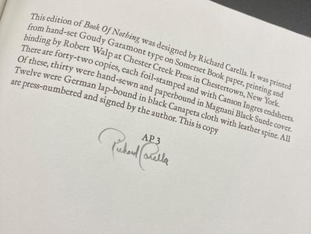 Books of Poetry: Richard Carella, Hudson Falls Poet