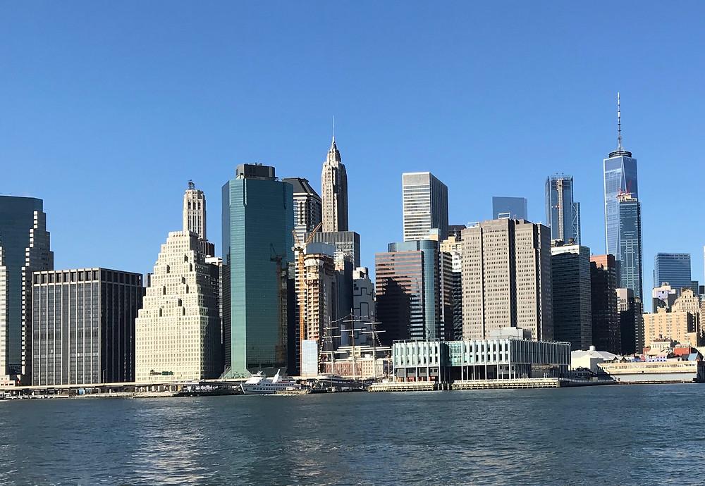 Manhattan depuis Brooklyn Bridge