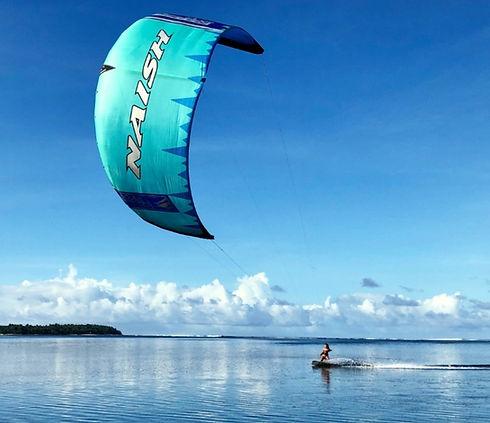 kitesurfing flat water Siargao Philippines