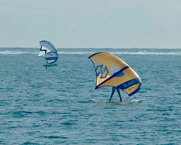 Wing surfing foiling lesson Siargao Philippines