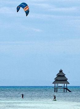 Kitesurfing riding lesson