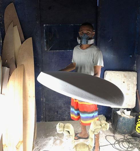 Din Tokong Litangan surfboard shaper Siargao
