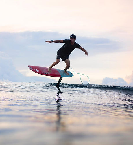 surf foiling cemeteries pesangan surfing spot Siargao