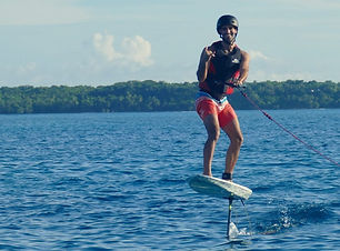 Foiling lesson Siargao Philippines