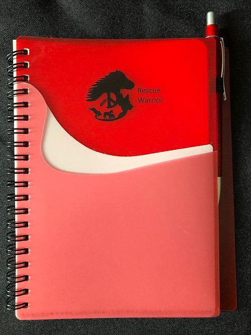 Rescue Warrior Spiral Notebook W/Pen