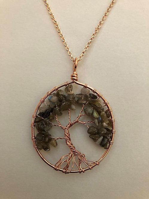 Spectrolite Tree of Life Necklace