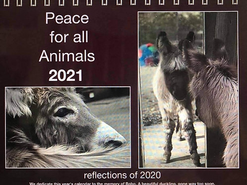 Peace for All Animals( 12 month ) Annual Calendar