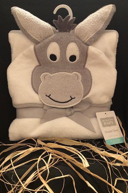 Hudson Baby Happy Donkey Hooded Towel