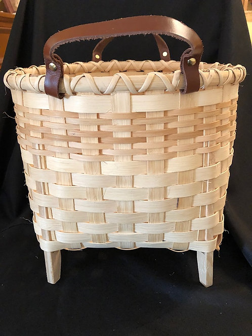 "Handmade ""footed"" Basket"