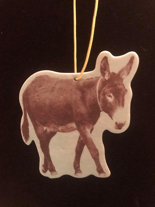 Teal Donkey Air Freshner