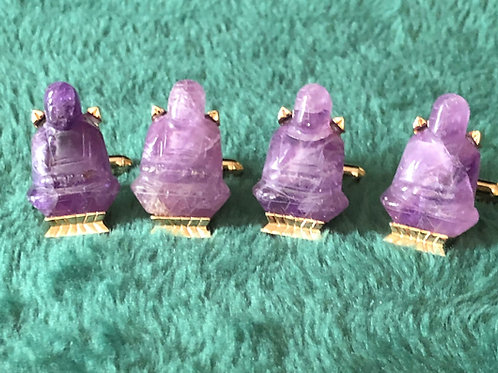 Amethyst Cuff Links