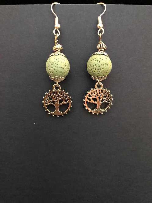 Aromatherapy Earrings Tree of Life