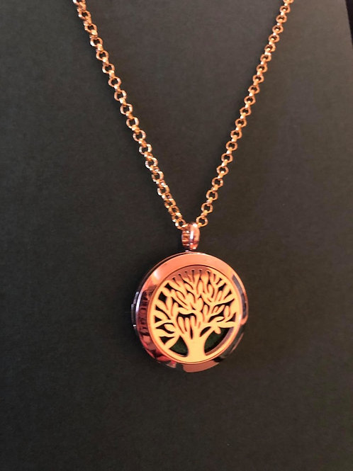 Petite Flat Tree of Life Essential Oil Locket