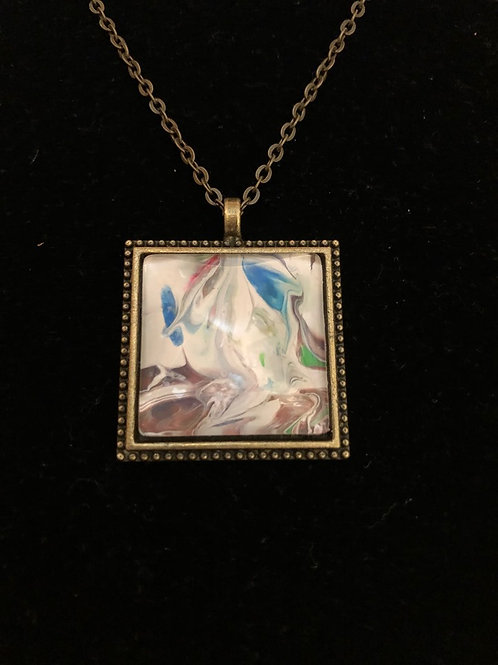 Square Vintage-Look Necklace
