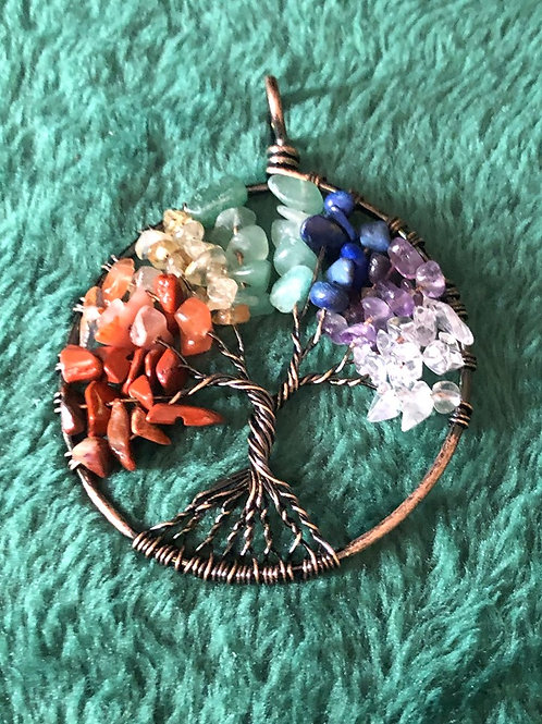 Tree of Life Antique Copper Necklace