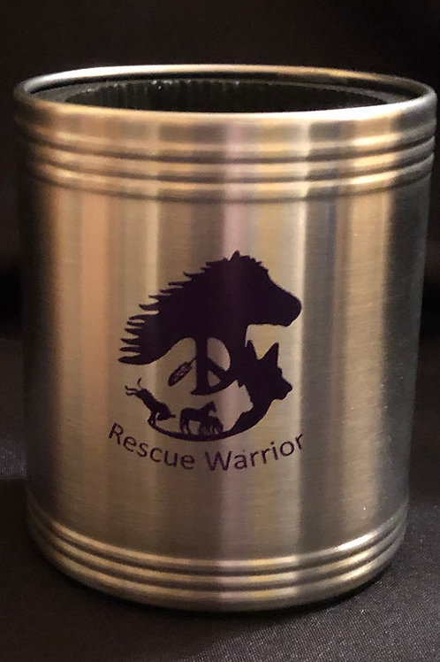 Rescue Warrior Stainless Steel Can Cooler
