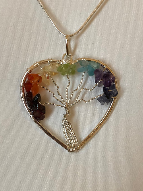 Heart-Shaped Tree of Life Necklace