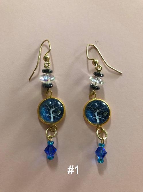 Hand-Beaded Earrings
