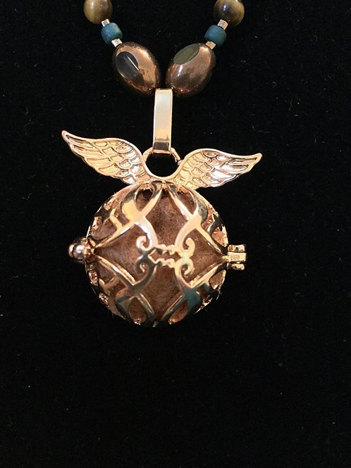 Copper Mexican Angel Caller Bola Harmony Ball Wish Bx Necklace
